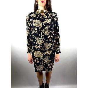 Vintage LIZ CLAIBORNE silk button down dress